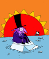 Cartoon: The Pinguin and Global Warming (small) by Munguia tagged pinguin,pinguino,ice,melting,global,warming,batman,badman,oil