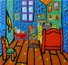 Cartoon: The Quarter paint (small) by Munguia tagged vincent,van,gogh,arles,room,el,cuarto,de,pintura,parody,famous,paintings