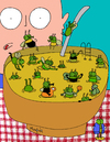 Cartoon: There s a public pool in my soup (small) by Munguia tagged soup suppe fly mosca tazon bowl gross iaks