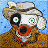 Cartoon: Van Dog with gray hat (small) by Munguia tagged vincent,van,gogh,dog,dawg,gray,hat,parody,spoof,version,famous,paintings,parodies