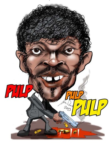 Cartoon: Pulp Fiction (medium) by Martin Hron tagged jules