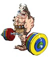 Cartoon: Dead lift (small) by Martin Hron tagged muscle