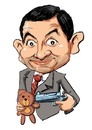 Cartoon: Rowan Atkinson (small) by Martin Hron tagged rowan