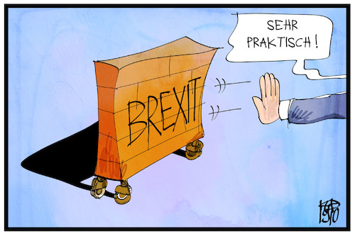 Cartoon: Der flexible Brexit (medium) by Kostas Koufogiorgos tagged karikatur,koufogiorgos,cartoon,brexit,flexibel,uk,europa,eu,deal,karikatur,koufogiorgos,cartoon,brexit,flexibel,uk,europa,eu,deal