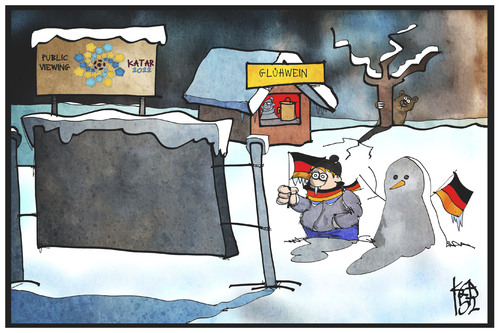 Cartoon: FIFA-WM 2022 (medium) by Kostas Koufogiorgos tagged karikatur,koufogiorgos,illustration,cartoon,winter,public,viewing,fanmeile,schnee,kälte,klima,wetter,fussball,schneemann,fan,wm,fifa,sport,karikatur,koufogiorgos,illustration,cartoon,winter,public,viewing,fanmeile,schnee,kälte,klima,wetter,fussball,schneemann,fan,wm,fifa,sport
