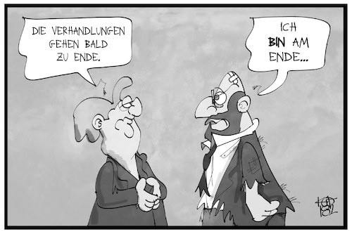 Cartoon: Groko-Anfang vom Ende (medium) by Kostas Koufogiorgos tagged karikatur,koufogiorgos,illustration,cartoon,groko,merkel,schulz,regierungsbildung,koalition,politik,demokratie,ende,karikatur,koufogiorgos,illustration,cartoon,groko,merkel,schulz,regierungsbildung,koalition,politik,demokratie,ende