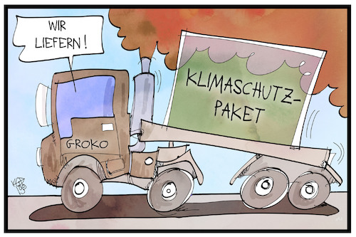 Cartoon: Klimaschutzpaket (medium) by Kostas Koufogiorgos tagged karikatur,koufogiorgos,illustration,cartoon,klima,klimaschutzpaket,abgas,umwelt,erderwärmung,koalition,groko,karikatur,koufogiorgos,illustration,cartoon,klima,klimaschutzpaket,abgas,umwelt,erderwärmung,koalition,groko