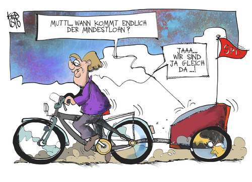 Cartoon: Mindestlohn (medium) by Kostas Koufogiorgos tagged koalition,regierung,mutti,merkel,mindestlohn,spd,cdu,karikatur,koufogiorgos,koalition,regierung,mutti,merkel,mindestlohn,spd,cdu,karikatur,koufogiorgos