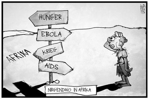 Cartoon: Nirgendwo in Afrika (medium) by Kostas Koufogiorgos tagged karikatur,koufogiorgos,illustration,cartoon,afrika,kind,hunger,ebola,krieg,aids,weg,wegweiser,nirgendwo,scheideweg,not,kontinent,politik,karikatur,koufogiorgos,illustration,cartoon,afrika,kind,hunger,ebola,krieg,aids,weg,wegweiser,nirgendwo,scheideweg,not,kontinent,politik