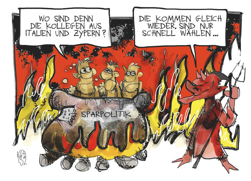 Cartoon: Wahlen in Italien und Zypern (medium) by Kostas Koufogiorgos tagged wahl,parlament,demokratier,italien,zypern,hölle,teufel,sparpolitik,eu,europa,wirtschaft,euro,schulden,krise,karikatur,kostas,koufogiorgos,wahl,parlament,demokratier,italien,zypern,hölle,teufel,sparpolitik,eu,europa,wirtschaft,euro,schulden,krise,karikatur,kostas,koufogiorgos