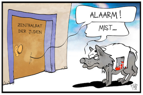 Cartoon: Zentralrat der Juden (medium) by Kostas Koufogiorgos tagged karikatur,koufogiorgos,illustration,cartoon,afd,partei,juden,zentralrat,wolf,schafspelz,gefahr,warnung,karikatur,koufogiorgos,illustration,cartoon,afd,partei,juden,zentralrat,wolf,schafspelz,gefahr,warnung