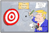 Cartoon: Alabama-Prinzip (small) by Kostas Koufogiorgos tagged karikatur,koufogiorgos,illustration,cartoon,trump,alabama,dorian,zielscheibe,bullseye,treffer,betrug,illusion,usa