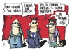 Cartoon: cut ups (small) by Kostas Koufogiorgos tagged austerity,plan,wages,pensions,greece,eurocrisis,eurozone,anergia,sintaxeis,misthoi,skitso,catoon,koufogiorgos