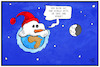 Cartoon: Der weiße Planet (small) by Kostas Koufogiorgos tagged karikatur,koufogiorgos,illustration,cartoon,schnee,erde,welt,mond,dunkel,hell,schwarz,weiß,weltall