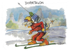 Cartoon: Dopathlon (small) by Kostas Koufogiorgos tagged karikatur,koufogiorgos,cartoon,illustration,dopathlon,biathlon,spritze,doping,olympia,wintersport,sport,betrug,gesundheit,ski,leistung