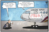 Cartoon: German Wings (small) by Kostas Koufogiorgos tagged karikatur,koufogiorgos,illustration,cartoon,germanwings,lufthansa,flugzeug,streik,passagier,kunde,arbeitskampf,pilot