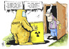 Cartoon: Gorleben (small) by Kostas Koufogiorgos tagged altmaier,gorleben,michel,atom,müll,endlager,erkundung,energie,wende,umwelt,karikatur,kostas,koufogiorgos