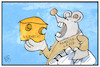 Cartoon: Hamsterkäufe (small) by Kostas Koufogiorgos tagged karikatur,koufogiorgos,illustration,cartoon,hamsterkauf,maus,käse,solidarität,panik,angst,corona,epidemie,pandemie,krankheit,covid