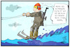 Cartoon: Hochwasser-Biathlon (small) by Kostas Koufogiorgos tagged karikatur,koufogiorgos,illustration,cartoon,biathlon,winter,ski,wintersport,wasserski,hochwasser,wetter,ueberflutung,sportler,wettbewerb