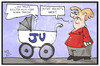 Cartoon: Junge Union (small) by Kostas Koufogiorgos tagged karikatur,koufogiorgos,illustration,cartoon,junge,union,cdu,merkel,kind,kinderwagen,konservativ,jung,alt,frauenbild,politik,parteitag