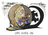 Cartoon: Life goes on (small) by Kostas Koufogiorgos tagged 2014,year,life,cartoon,koufogiorgos