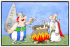 Cartoon: Neo-Druiden (small) by Kostas Koufogiorgos tagged koufogiorgos,illustration,cartoon,karikatur,druide,rechtsextremismus,miraculix,obelix,polizei,festnahme,razzia,uderzo