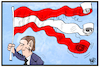 Cartoon: Österreich (small) by Kostas Koufogiorgos tagged karikatur,koufogiorgos,illustration,cartoon,oesterreich,flagge,fahne,övp,fpö,partei,kurz,strache,video