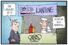 Cartoon: Olympische Spiel in Hamburg (small) by Kostas Koufogiorgos tagged karikatur,koufogiorgos,illustration,cartoon,olympia,hamburger,hamburg,kantine,imbiss,currywurst,berlin,dosb,olympische,spiele,sport