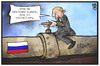 Cartoon: Russland-Sanktionen (small) by Kostas Koufogiorgos tagged karikatur,koufogiorgos,illustration,cartoon,putin,russland,sanktionen,gegensteuern,pipeline,gas,wirtschaft,politik,reaktion