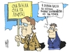 Cartoon: Samaras in Europe (small) by Kostas Koufogiorgos tagged samaras,greece,eurozone,financial,help,negotiation,deficit,diapragmateusi,paketo,voitheias,europi,stournaras
