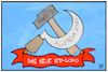 Cartoon: SPD-Logo (small) by Kostas Koufogiorgos tagged karikatur,koufogiorgos,illustration,cartoon,spd,logo,juso,kühnert,sozialismus,kommunismus,hammer,sichel,hartz,iv,partei,sozialdemokratie