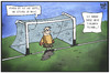 Cartoon: Torlinientechnik (small) by Kostas Koufogiorgos tagged karikatur,koufogiorgos,illustration,cartoon,tor,torlinientechnik,torwart,kamera,bild,fussball,bundesliga,sport
