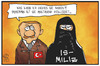 Cartoon: Türkei und IS (small) by Kostas Koufogiorgos tagged karikatur,koufogiorgos,illustration,cartoon,is,miliz,terrorismus,erxogan,tuerkei,islamismus,politik