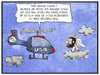 Cartoon: USA-Irak (small) by Kostas Koufogiorgos tagged illustration,cartoon,koufogiorgos,karikatur,irak,usa,saddam,hussein,hubschrauber,engel,wolke,konflikt,isis,krieg,himmel,politik,terrorismus,iran,verbindung,beziehung