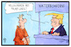 Cartoon: Waterboarding (small) by Kostas Koufogiorgos tagged karikatur,koufogiorgos,illustration,cartoon,trump,waterboarding,lines,usa,folter,foltermethoden,schiff,linie,reederei