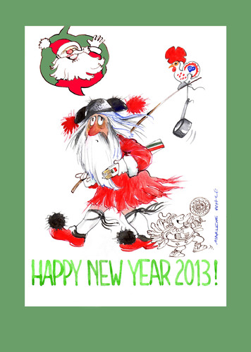 Cartoon: Happy New Year 2013 (medium) by Marlene Pohle tagged greetings