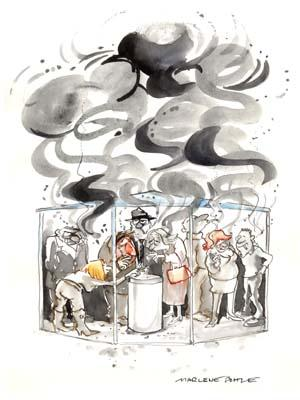 Cartoon: Smokers (medium) by Marlene Pohle tagged cartoon,