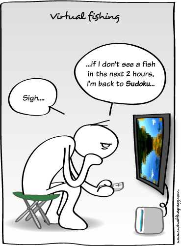 Cartoon: Virtual fishing (medium) by Gregg from GriDD tagged gregg,gridd,fishing,games,virtual