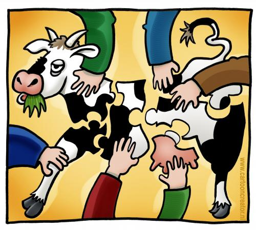 Cartoon: Puzzle cow (medium) by illustrator tagged cow,puzzle,farmers,arms,putting,together,match,matching,animal,tier,kuh,puzzlespiel,mitarbeit,,kuh,tier,puzzle,teile,stücke,bauer,zusammensetzen,spiel,mitarbeit,zusammen,gemeinsam,teamarbeit,team