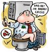 Cartoon: Credit Crisis (small) by illustrator tagged credit,crisis,cartoon,bonus,manager,toilet,dump,flush,kredit,krediet,welleman,illustration