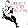 Cartoon: To resist or not to resist? (small) by Conntra tagged spain15m,manifestation
