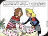 Cartoon: Birthday (small) by JotKa tagged birthday,relationship,problems,revende,anger,boyfriend,girlfriend,men,women