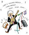 Cartoon: HARDROCK-BREXIT-BORIS (small) by JotKa tagged brexit,eu,ge,uk,boris,johnson,harter,brüssel,london,musik,rock,gitarre,musiker
