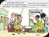 Cartoon: All inclusive (small) by JotKa tagged holiday,hotelroom,dirt,vermin,expensive,bad,foo,dirty,room,cleaning,litter,adventure,sun,beach,sea,leisure,tour,guide,touroperator