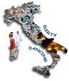 Cartoon: Dirty Dancing (small) by azamponi tagged berlusconi,italy,garbage,satire