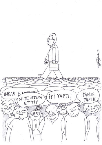 Cartoon: Istifa sonrasi (medium) by CIGDEM DEMIR tagged deniz,baykal,resignation,party,politics,turkey