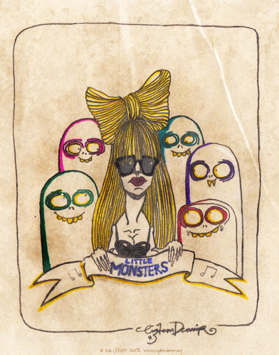 Cartoon: Little Monsters (medium) by CIGDEM DEMIR tagged lady,gag,little,monsters