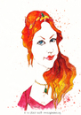 Cartoon: Hurrem Sultan (small) by CIGDEM DEMIR tagged hurrem,sultan,meryem,uzerli,muhtesem,yuzyil