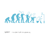 Cartoon: We depleting water (small) by CIGDEM DEMIR tagged water,human,evolution