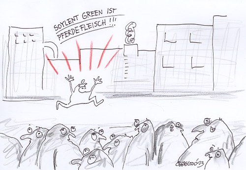 Cartoon: Soylent Green (medium) by Eggs Gildo tagged soylent,green,pferd,pferdefleisch